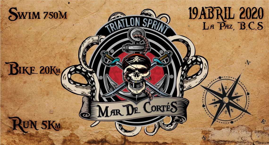 """TRIATLON SPRINT """"MAR DE CORTES 2020"""""""